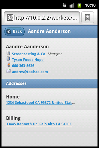 Contact Details - iOS