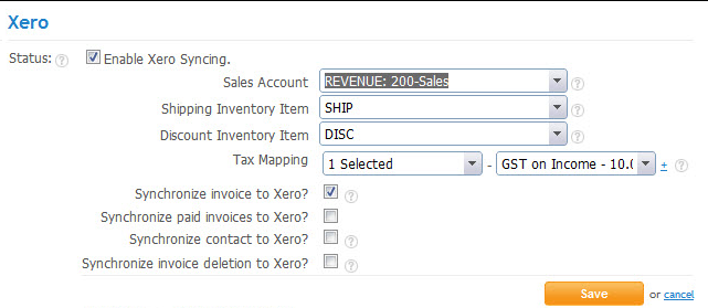Set up Xero Integration