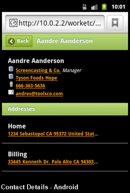 Contact Details - Android