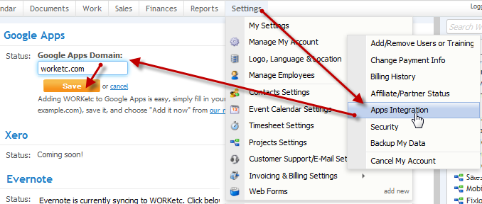 Give WORK[etc] Access to G Suite Account